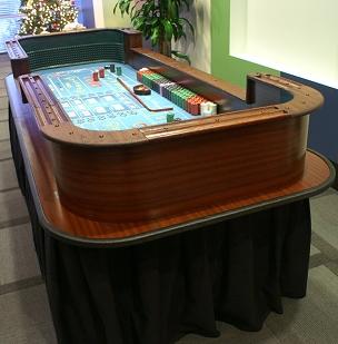 professional craps table